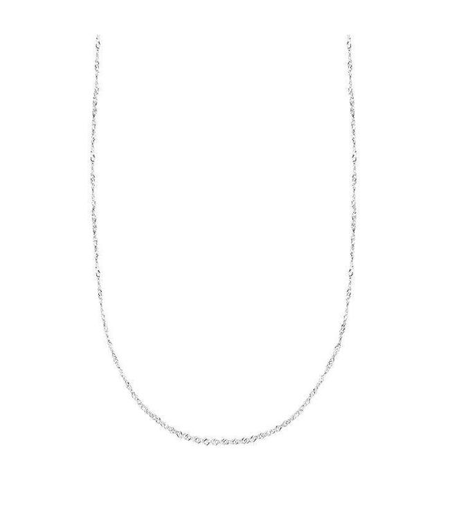 TWISTED BASIC NECKLACE LONG SILVER