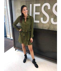 LAYERED LOOSE DRESS GREEN