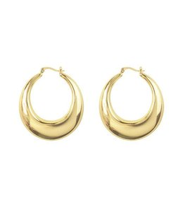MY JEWELLERY STATEMENT 70'S OVAL HOOPS
