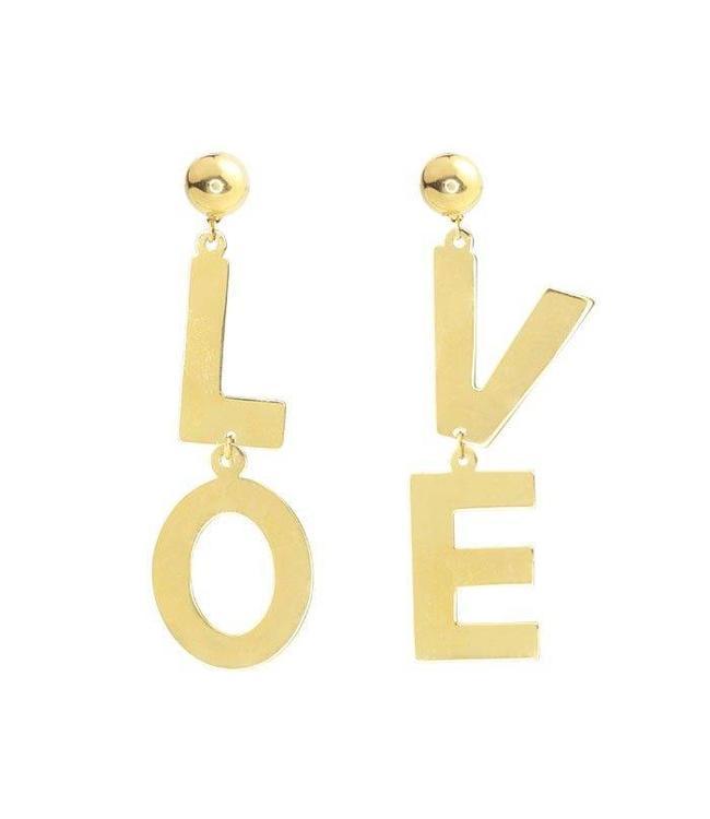 MY JEWELLERY LOVE EARRINGS GOLD