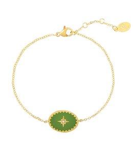 MILORD BRACELET GREEN/GOLD