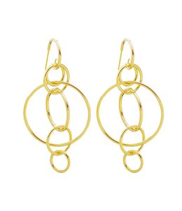 CIRCLES OF LIFE EARRINGS GOLD