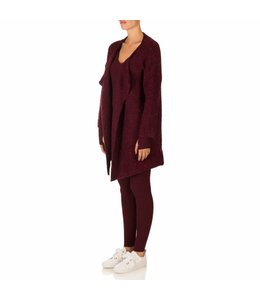 REINDERS OVERSIZED VEST SHORT BURGUNDY