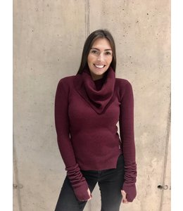 REINDERS WILLY TURTLENECK SHORT BURGUNDY