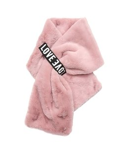 SCARF FURRY LOVE PINK