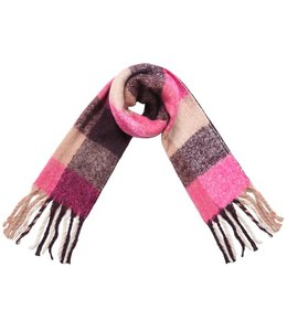 SCARF COLORED BLOCKS PINK