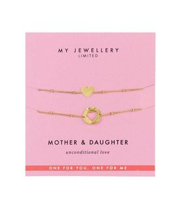 MY JEWELLERY MOTHER & DAUGHTER BRACELET GOLD