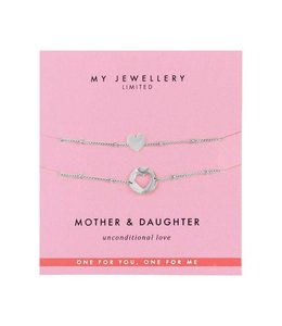 MY JEWELLERY MOTHER & DAUGHTER BRACELET SILVER