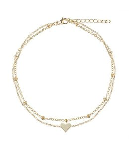 MY JEWELLERY ANKLE STRAP HEART BRACELET