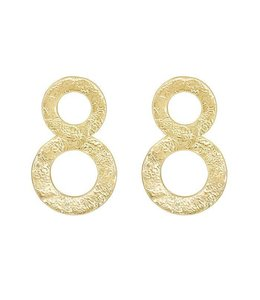MY JEWELLERY DOUBLE CIRCLE STATEMENT EARRINGS GOLD