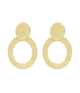 MY JEWELLERY CIRCLE STATEMENT EARRINGS GOLD