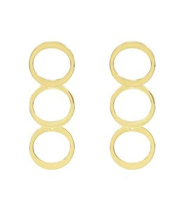 MY JEWELLERY GOLD CIRCLE EARRINGS