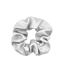 MY JEWELLERY FAUX LEATHER SCRUNCHIE SILVER