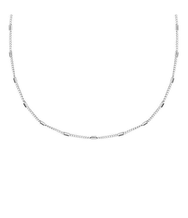 MY JEWELLERY CUSTOM TUBES NECKLACE SHORT SILVER