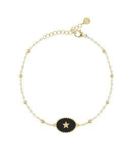 MY JEWELLERY BLACK ENAMEL BRACELET STAR