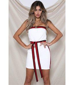 RUNAWAY DRESS WHITE