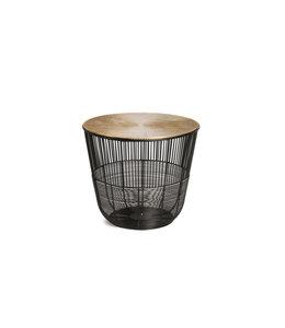 SIDE TABLE METAL BLACK/GOLD