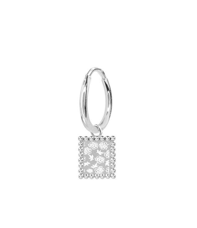 MY JEWELLERY CHARM EARRING ROSES SILVER