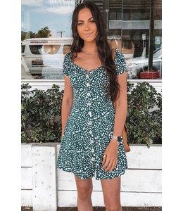 MON AMIE DRESS EMERALD