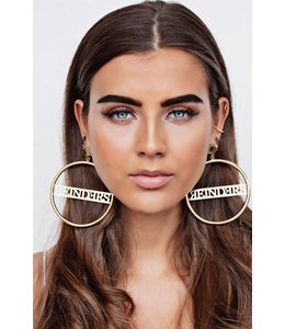 REINDERS EARRING HOOPS BIG GOLD