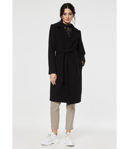 TUVA LONG COAT BLACK