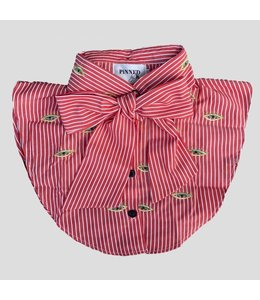 PINNED BY K COLLAR EYE STRIPE RED