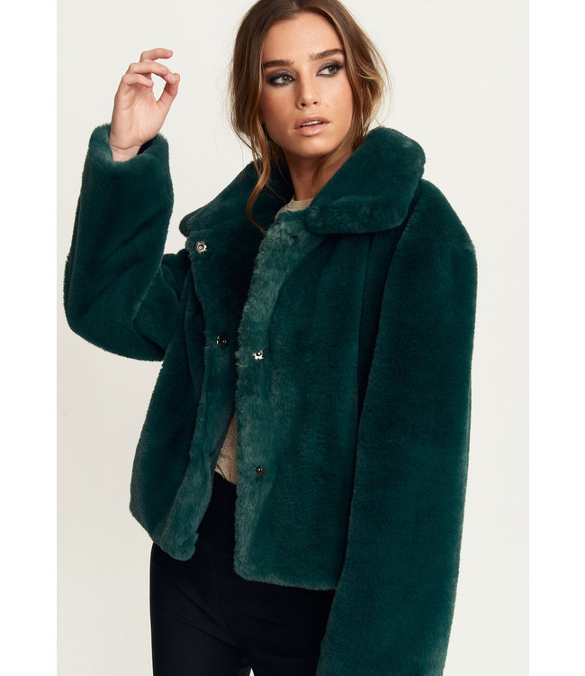 ELIN FAUX FUR SHORT JACKET