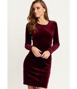 MELANIE DRESS WINE RED