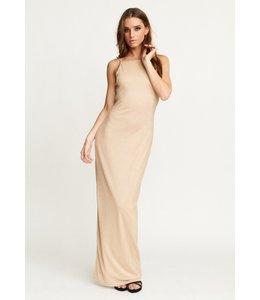 COURTNEY DRESS LIGHT GOLD LUREX