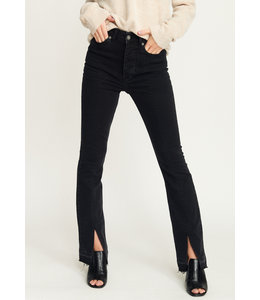 NORA SPLIT JEANS BLACK DENIM