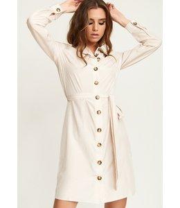 ANDREA BUTTON DRESS
