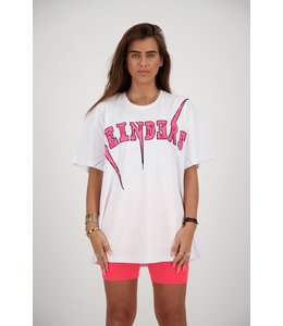 REINDERS T-SHIRT REINDERS BOLT WHITE/PINK