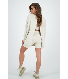 REINDERS SWEATER OPEN BACK CREME