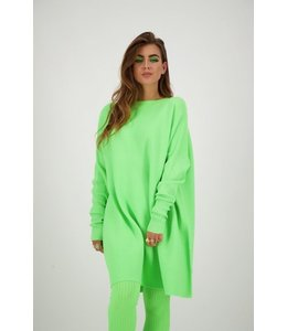 REINDERS DEBBY DRESS LUREX NEON GREEN