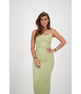 REINDERS SARAH DRESS LUREX SAGE GREEN