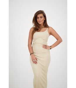 REINDERS SARAH DRESS LUREX CREME