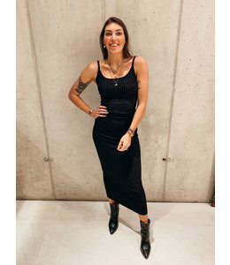 REINDERS SARAH DRESS LUREX BLACK