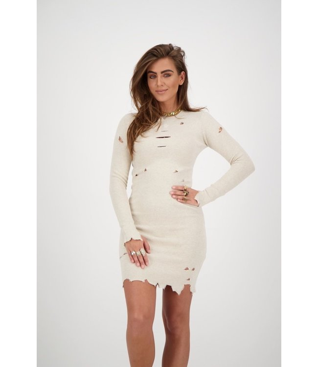 REINDERS DRESS DESTROYED CREME