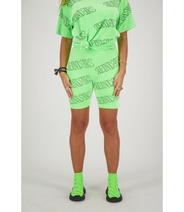 REINDERS BIKER SHORT VELVET REINDERS ALL OVER PRINT NEON GREEN