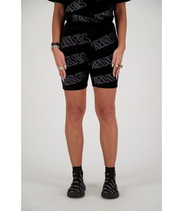 REINDERS BIKER SHORT VELVET REINDERS ALL OVER PRINT BLACK