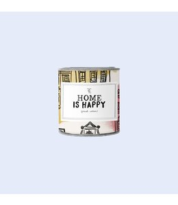 THE GIFT LABEL SMALL CANDLE TIN HOME IS HAPPY FIREWOOD
