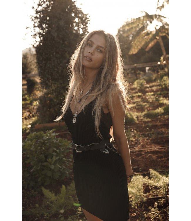 MOOST WANTED ROSELLA RIB DRESS BLACK