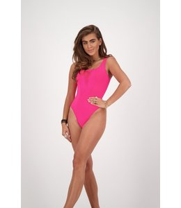 REINDERS SWIM SUIT DESTROYED NEON PINK