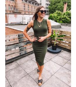 MOOST WANTED SELINA DRESS SENSUAL GREEN
