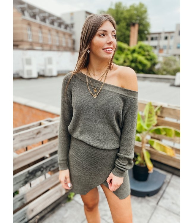 MOOST WANTED DAYLA KNITTED SWEATER GREEN