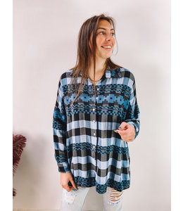 LILY OVERSIZED BLOUSE BLUE