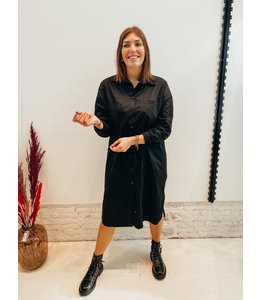 JUUL BLOUSE DRESS BLACK