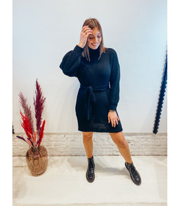 RILEY SWEATER DRESS BLACK