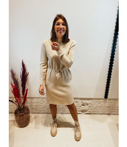 LIZZIE KNIT DRESS CREME