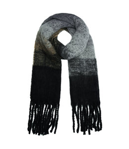 SCARF SOFT BLACK & GREY
